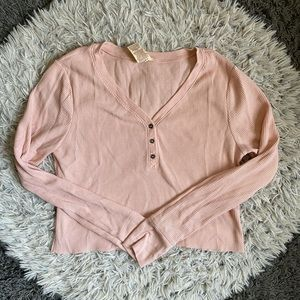 Pink cardigan top